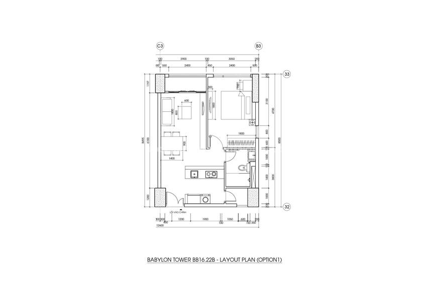 Thiết kế nội thất căn hộ chung cư nhỏ 50m2