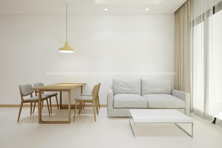 Thiết kế nội thất  chung cư nhỏ rộng và thoáng