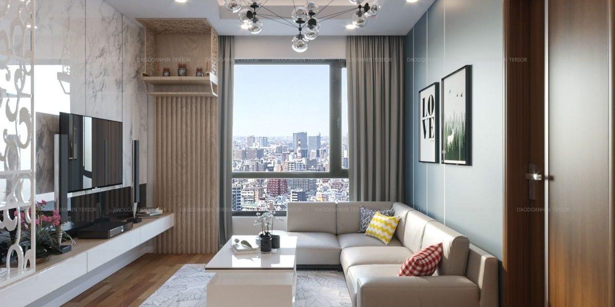 Thiết kế nội thất căn hộ phong cách hiện đại, sang trọng