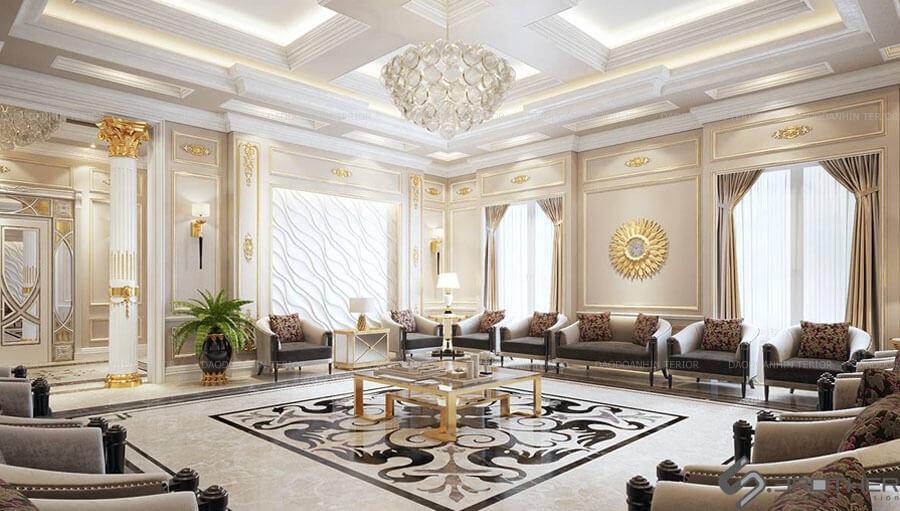 Không gian thiết kế nội thất biệt thự sang trọng cuốn hút